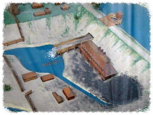 Модель Змеиногорского завода, представленная в Алтайском краеведческом музее