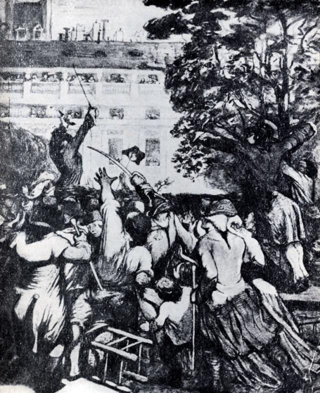 Оноре Домье. Камилл Демулен призывает народ к восстанию. 1848